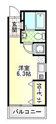 Baan栄 4階ワンルームの間取り