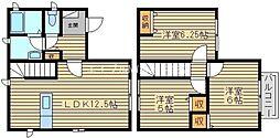 [一戸建] 岡山県倉敷市中帯江 の賃貸【岡山県 / 倉敷市】の間取り