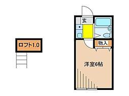 ハイツプラーニャ[2階]の間取り