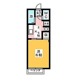 ミヤコハイツ[2階]の間取り