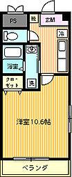 中田マンション[402号室]の間取り