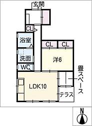 ミキホーム A棟[1階]の間取り