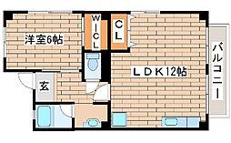 兵庫県神戸市西区森友4丁目の賃貸マンションの間取り