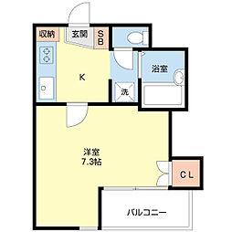 パフュームドプルニア[3階]の間取り
