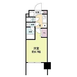 レジディア新大阪[1413号室]の間取り