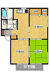 フローレンスD[2階]の間取り