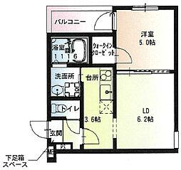 阪急宝塚本線 石橋阪大前駅 徒歩9分の賃貸アパート 1階1LDKの間取り