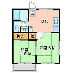 ハイム下伊福本町[3階]の間取り