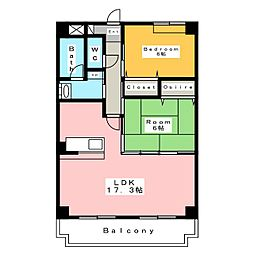 バトーモンテ[3階]の間取り