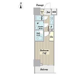 メインステージ亀戸VI 9階1Kの間取り