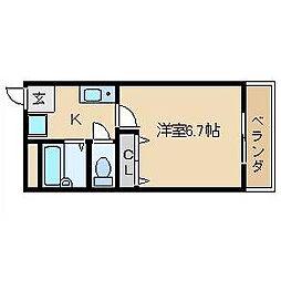大阪府高槻市真上町1丁目の賃貸マンションの間取り