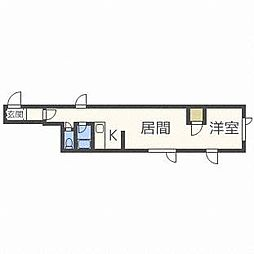 キラメック円山北[2階]の間取り