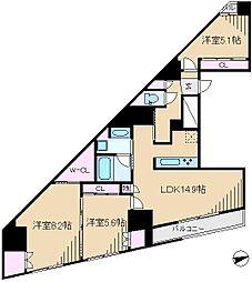 GENOVIA駒込駅 green veil[7階]の間取り