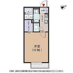 大阪府東大阪市喜里川町の賃貸アパートの間取り