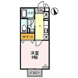 富山県富山市下新町の賃貸アパートの間取り