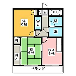 源氏マンション[3階]の間取り