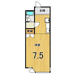 ヤマテマンション[302号室]の間取り