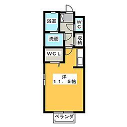 アンフィニドミール[2階]の間取り