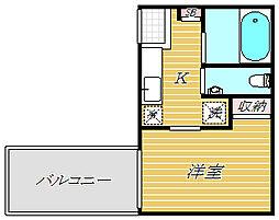 東京都葛飾区堀切4丁目の賃貸アパートの間取り