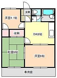 ハウディサガラ[1階]の間取り