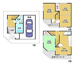 JR片町線(学研都市線) 野崎駅 徒歩7分 4DKの間取り