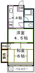 東京都国分寺市本多2丁目の賃貸マンションの間取り