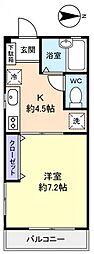 アウトリガー津田沼[3階]の間取り
