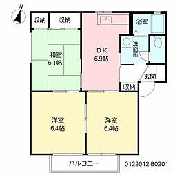 アーバンコーポ遠賀野 B棟[2階]の間取り