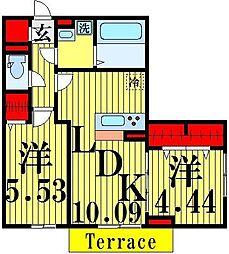 (仮)D−room加賀[1階]の間取り