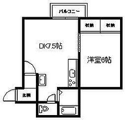イーグル311 7階1DKの間取り
