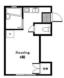東京都大田区下丸子4丁目の賃貸アパートの間取り