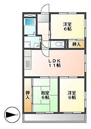 リュフテンハイム[2階]の間取り