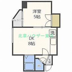 北海道札幌市東区北二十四条東5丁目の賃貸マンションの間取り