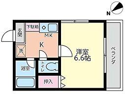 東京都荒川区南千住1丁目の賃貸アパートの間取り