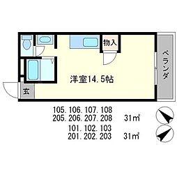 ドルミマンション[1階]の間取り