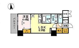 グランセジュール江坂 住居[0806号室]の間取り