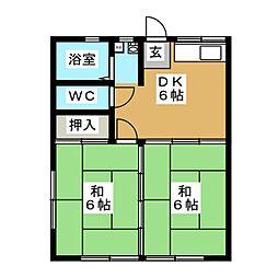 テラスハウス1号館[1階]の間取り
