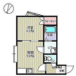 北海道札幌市東区北四十条東14丁目の賃貸アパートの間取り