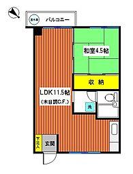 神奈川県横浜市中区曙町3丁目の賃貸マンションの間取り