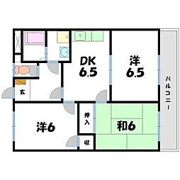 アメニティ21[3階]の間取り