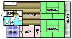 金剛グリーンハイツ[1階]の間取り