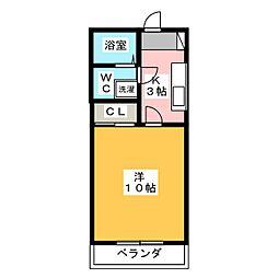 サンテユール[1階]の間取り