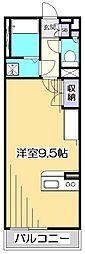ミランダCOURT恋ヶ窪[3階]の間取り