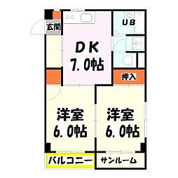 MKC西新井橋ハイツ[304号室]の間取り