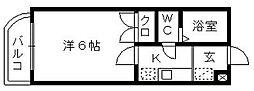 助信モンドEAST[3階]の間取り