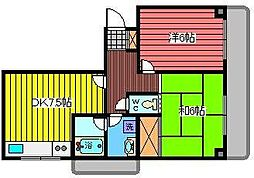 大黒屋レヂデンス[3階]の間取り