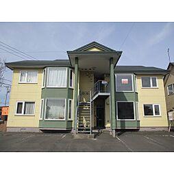 北海道苫小牧市のぞみ町1丁目の賃貸アパートの外観