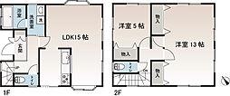 [一戸建] 神奈川県横須賀市芦名1丁目 の賃貸【/】の間取り
