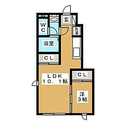 仮)DM東中田1[1階]の間取り