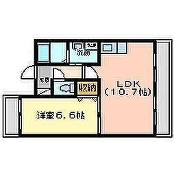 ラディウス武庫之荘[5階]の間取り